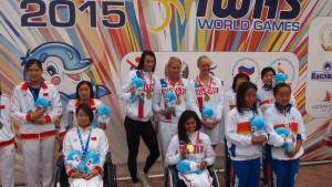 女子34Pメドレーリレー銅メダル